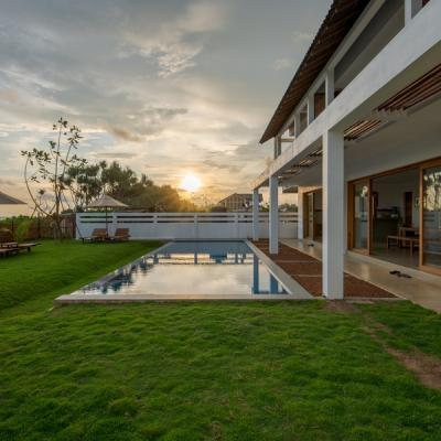 Villa Exterior - Sunset with pool